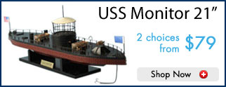Model Ship USS Monitor