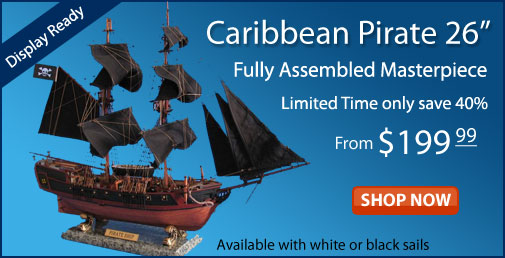 Model Caribbean Pirate Ship