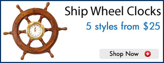 Wood Ship Wheel Clocks