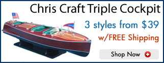 Triple Cockpit Model Speed Boats